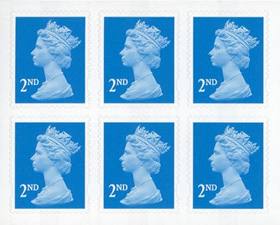 Stamps – 6 x 2nd class