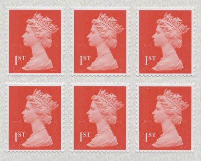 First class stamps x 6